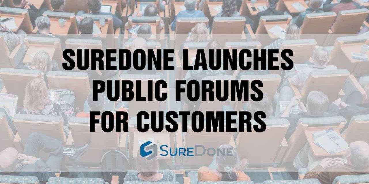 Announcing: SureDone Public Forums!